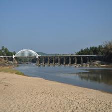Bridge Across The River Tunga At Thirthahalli