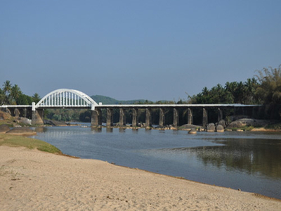 Bridge Across The River Tunga At Thirthahalli