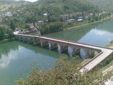 Bridge Over Drina River In Višegrad