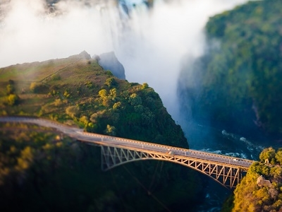 Bridge Over Zambezi At Victoria Falls