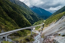 Bridge Through Arthur's Pass - Canterbury NZ