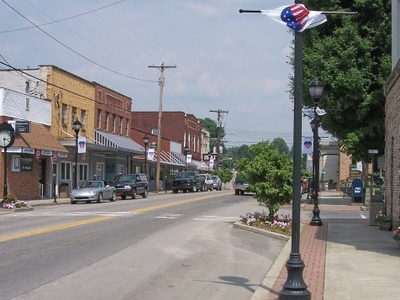 Broad Street West Virginia Routes 39 And 41 In Downtown Summersv