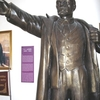 Bronze Statue Of Lenin Inside The Museum