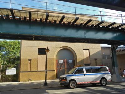 Substation 401 Under The Elevated Tracks
