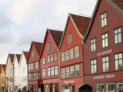 Panoramic View Of Bryggen