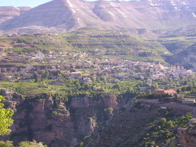 Bsharri As Seen From Across The Qadisha Valley