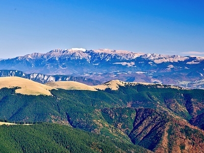 Bucegi Mountains From Papusa