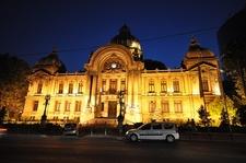Bucharest CEC Palace At Dusk