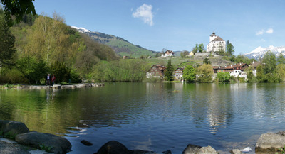 Schloss Werdenberg And Werdenberg Lake