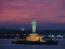 Buddah Statue Hussain Sagar - Hyderabad - Andhra Pradesh - India