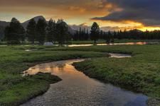 Budd Creek Sunset, Tuolumne Meadow