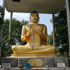 Buddha At Phnom Sampeau Mountain