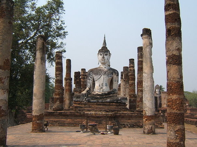 Buddha-Bildnis Im Wat Mahathat