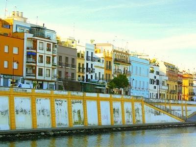 Buildings Alongside River Guadalquivir In Seville