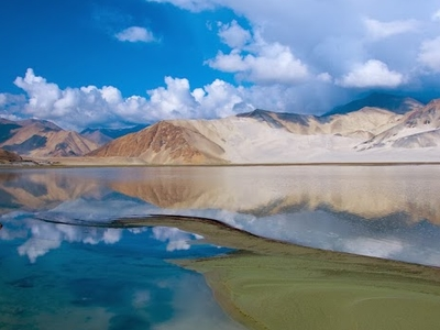 Bulungkol Lake With Pamir Mountains