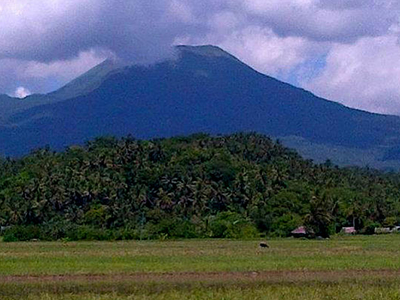 Bulusan Volcano From Rice Fields Of Bulusan
