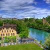 Bundeshaus - Aare River At Bern