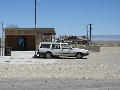 Bustling Gas Station At Baker NV