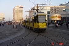 Tram Passing The World Clock