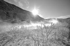 B&W Boiling River - Yellowstone - USA
