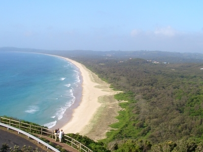 Tallow Beach Looking South From The Lighthouse
