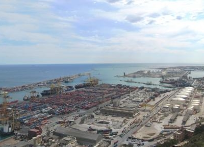 View Of The Port Of Barcelona