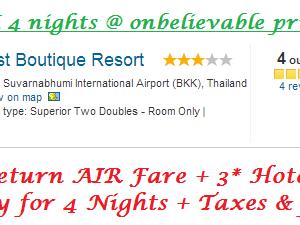 BANGKOK 4 nights @ INR 9970/- only Photos