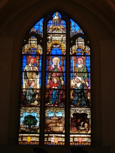 Stained Glass Windows In The Church