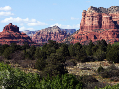 Bell Rock With Courthouse Butte