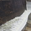 Water Flowing Over The Upgraded Spillway