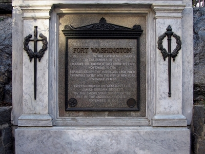 Plaque Commemorating The Site Of Fort Washington