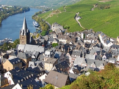 Picturesque Old Town At Mosel River