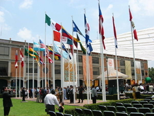 UDLAP's Square Of The Flags During Graduation Ceremony
