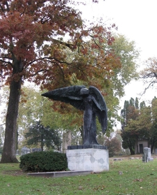 Black Angel In Oakland Cemetery