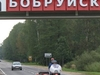 Babruysk City Sign On The Highway From Minsk