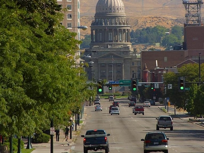 Idaho State Capitol In Downtown