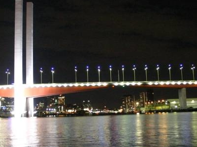 The Bolte Bridge At Night