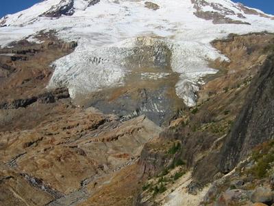 Boulder Glacier On The Southeast Slope Of Mount Baker