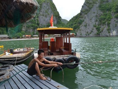 Boatman At Monkey Island