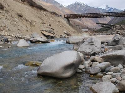 Bridge Over The  Baspa  River