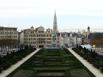 Brussels City Hall Seen From The Mont Des Arts