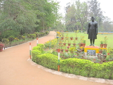 Statue Of Jawaharlal Nehru Near The Park Entrance Gate