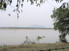 Biharinath Across The Damodar River As Seen From The Park