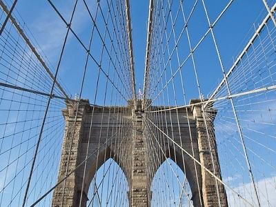 Cables Holding NY Brooklyn Bridge