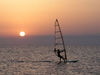 Cabo De  Gata  Sunset  Windsurfing