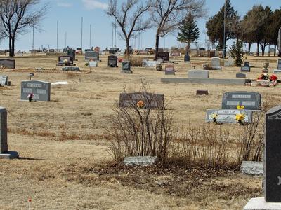 Calhan  Colorado Cemetery By  David  Shankbone