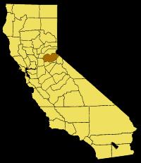California Map Showing  El  Dorado  County