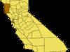 California Map Showing  Mendocino  County