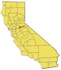 California Map Showing  Amador  County