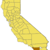 California Map Showing San Diego County
